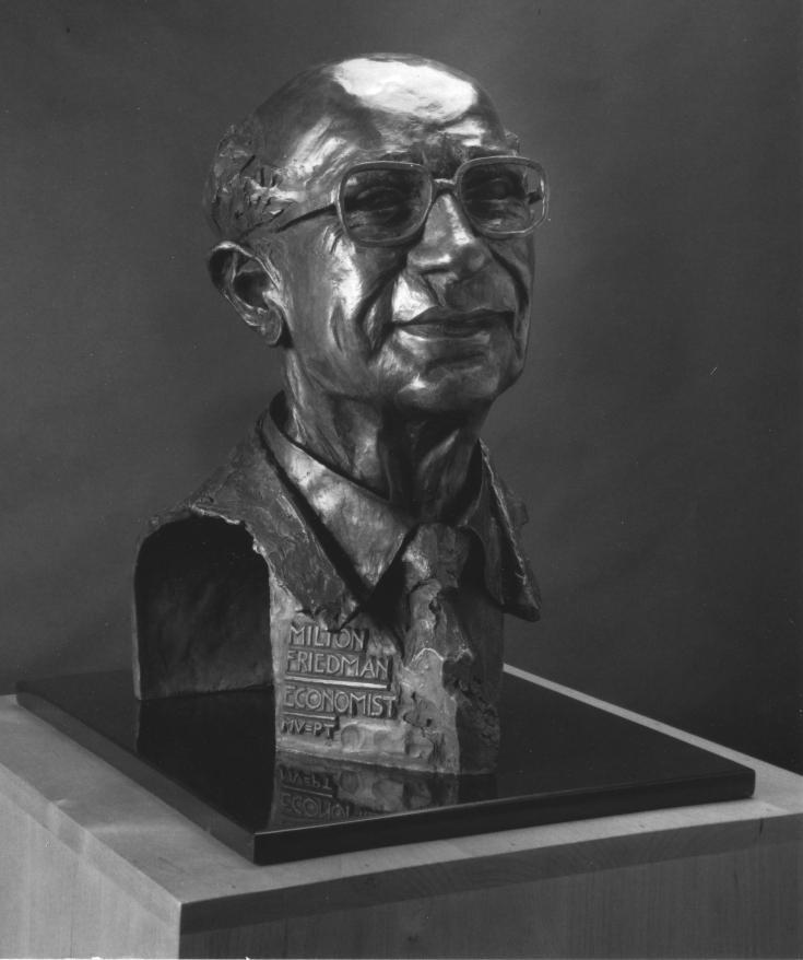 Bronze Bust of Milton Friedman